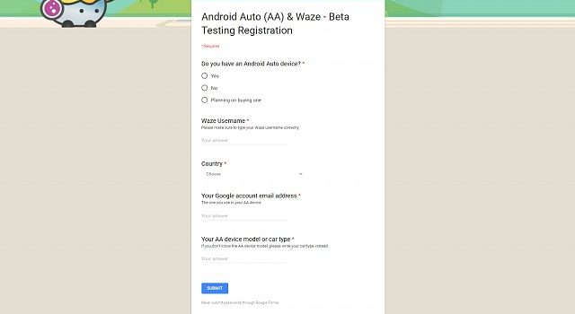 Android auto waze beta